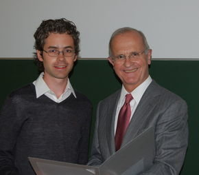 Receiving the award from Prof. Dr. Ernst Denert during the annual GI conference.